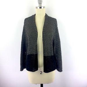 Eileen Fisher M Cardigan Metallic Knit Sweater